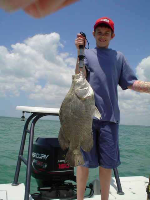 triple tail fishing charter near Captiva Island