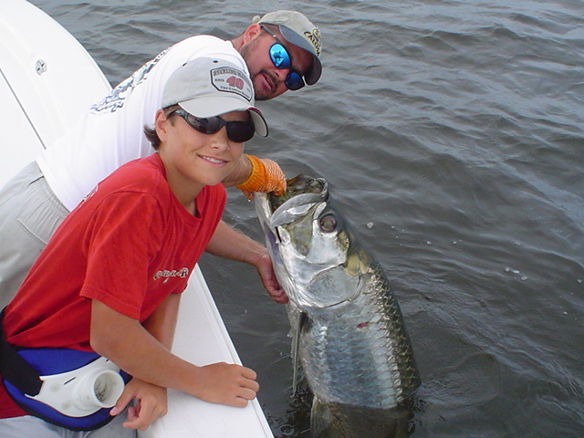Double hook-up on tarpon near Boca Grande Pass