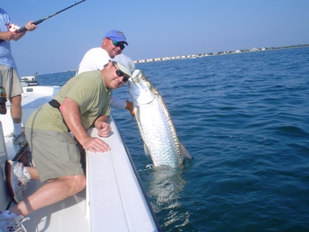 Tarpon fishing in Charlotte Harbor near Boca Grande pass